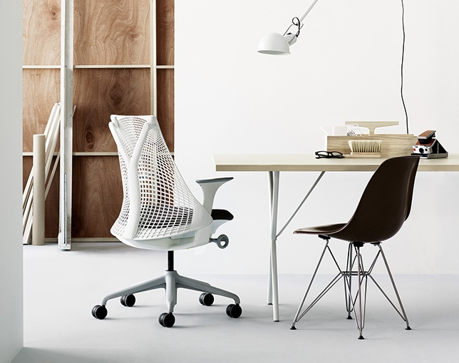 Herman Miller Eames Molded Fiberglass Side Chair Wire Baseのメイン写真