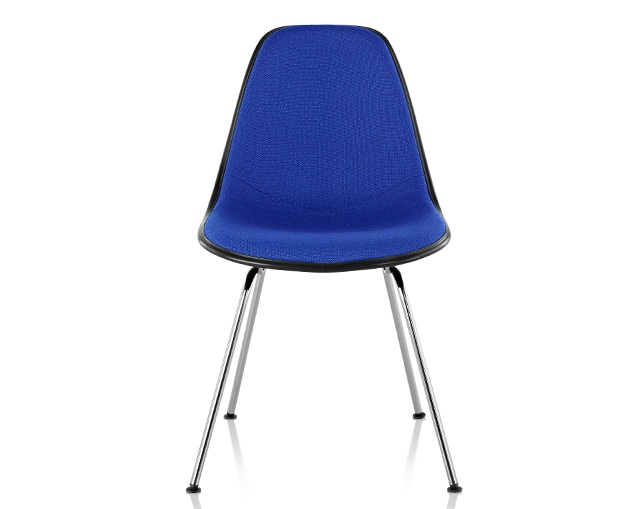 Herman Miller Eames Upholstered Molded Fiberglass Side Chair 4-Leg Baseのメイン写真