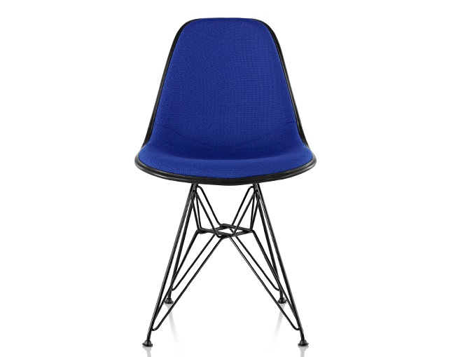 Herman Miller Eames Upholstered Molded Fiberglass Side Chair Wire Baseのメイン写真