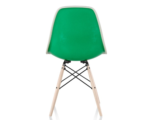 Herman Miller Eames Upholstered Molded Fiberglass Side Chair Dowel Baseのメイン写真