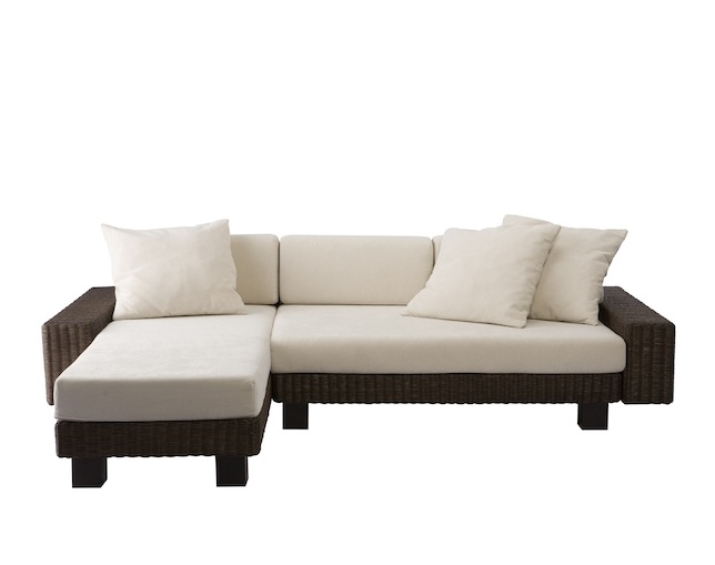 a.flat(エーフラット) KEI low sofa v01 couch set(rattan)の写真