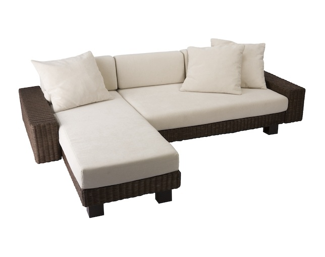 a.flat KEI low sofa v01 couch set(rattan)のメイン写真
