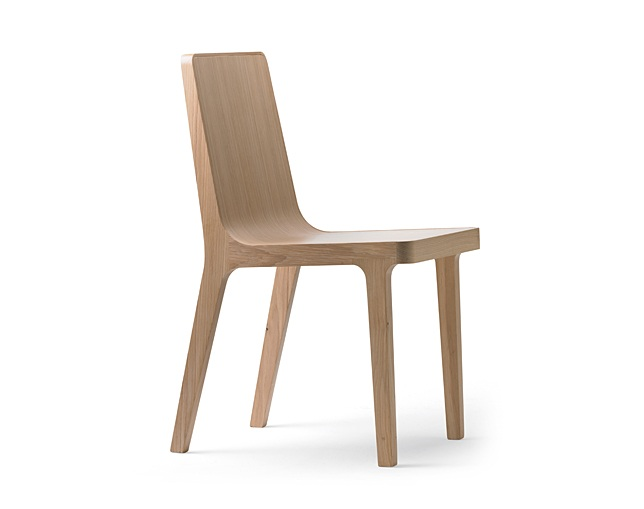 ALKI Chair back and seat in wood / fabric / leatherの写真