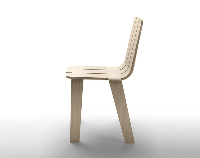 ALKI Chair in oak - seat and back in oakのメイン写真