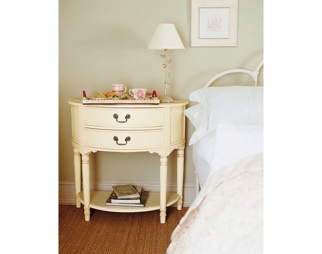LAURA ASHLEY Clifton 2 drawer half moon console tableの写真