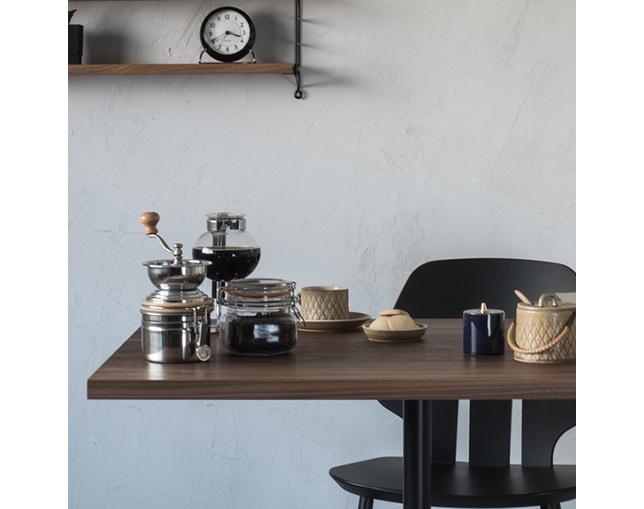グリニッチ(greeniche) greeniche カフェテーブル (walnut) w 900×d700.の写真