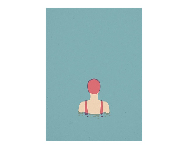 Paper Collective Paper Collective(ペーパーコレクティブ)ポスター The Swimmer 01(スイマー)50×70cm の写真
