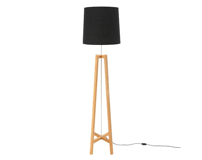 ザ・コンランショップ(THE CONRAN SHOP) CROSS FLOOR LIGHT NATURAL WOOD BLACKの写真