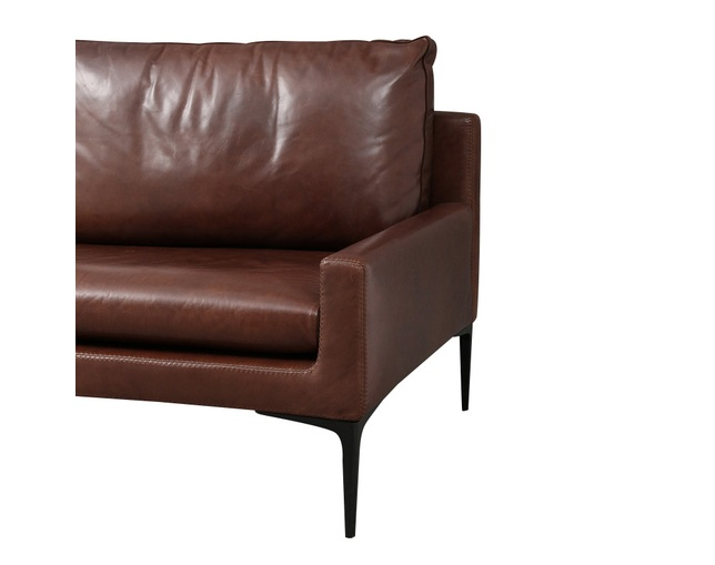 ザ・コンランショップ(THE CONRAN SHOP) ELSA 3S SOFA LEATHER BROWNの写真