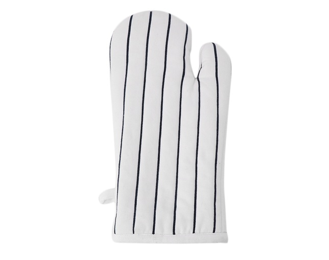 ザ・コンランショップ(THE CONRAN SHOP) BUTCHER STRIPE MITTEN WHITEの写真