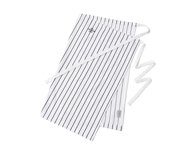 ザ・コンランショップ(THE CONRAN SHOP) BUTCHER STRIPE WAIST APRON WHITEの写真