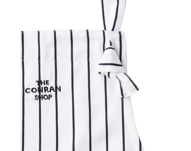 ザ・コンランショップ(THE CONRAN SHOP) BUTCHER STRIPE APRON WHITEの写真