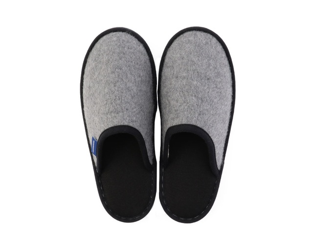 ザ・コンランショップ(THE CONRAN SHOP) ORIGINAL WOOL SHAGGY SLIPPERS GRAYの写真