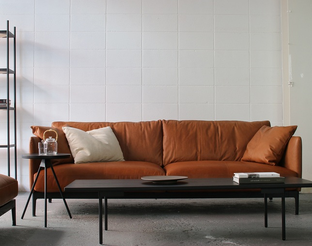 MCRAFT dual dual sofa 3P leatherのメイン写真