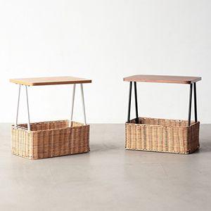 ラタン の サイド テーブル