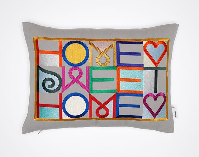 Vitra Embroidered Pillow - Home Sweet Homeの写真