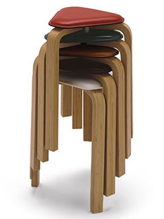 TAKE Create Hagi Hagi Bamboo Stool highの写真